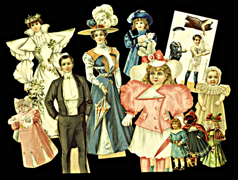 A-14-Paper-dolls-New.jpg. PAPER DOLLS (English & American, 1895-1920)